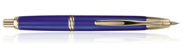 Pilot Vanishing Point Collection Fountain Pens in Blue / Gold