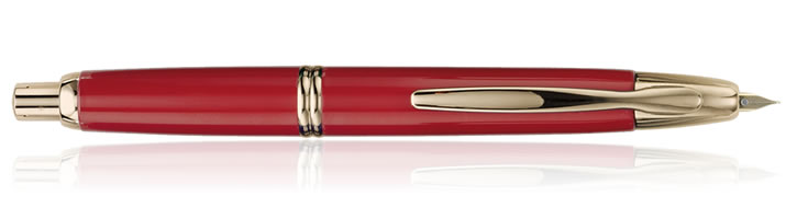 Pilot Vanishing Point Collection Fountain Pens in Red / Gold