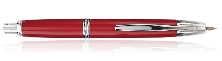 Pilot Vanishing Point Collection Fountain Pens in Red / Rhodium
