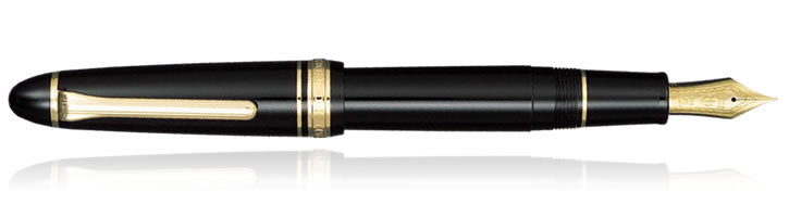 Black / Gold Sailor 1911 Large Fountain Pens