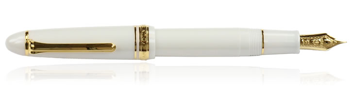 Sailor 1911 Large Fountain Pens in White / Gold