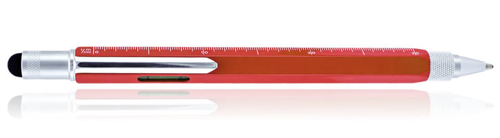 Monteverde One Touch Stylus Tool Ballpoint Pens in Red