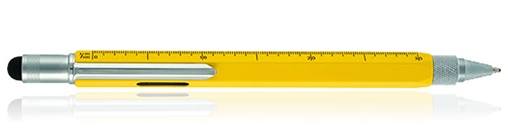 Monteverde One Touch Stylus Tool Ballpoint Pens in Yellow
