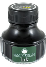 Monteverde Bottled Ink(90ml) Fountain Pen Ink in Black Ash