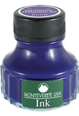 Monteverde Bottled Ink(90ml) Fountain Pen Ink in Blue Permanent
