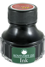 Monteverde Bottled Ink(90ml) Fountain Pen Ink in Red Velvet