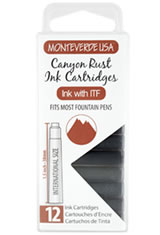 Monteverde International Standard Size Cartridge(12pk) Fountain Pen Nibs in Canyon Rust