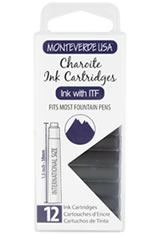 Monteverde International Standard Size Cartridge(12pk) Empty Ink Bottles in Charoite