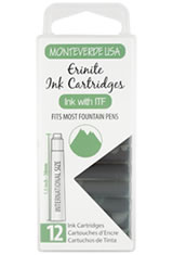 Monteverde International Standard Size Cartridge(12pk) Rollerball Pen Refills in Ernite