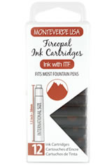 Monteverde International Standard Size Cartridge(12pk)  in Fireopal