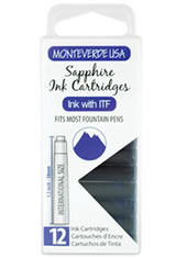 Monteverde International Standard Size Cartridge(12pk)  in Sapphire