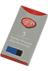 Aurora Cartridge(5pk) Fountain Pen Ink in Blue Black