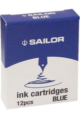 Sailor Jentle Ink Cartridge(12pk)  in Blue
