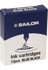 Sailor Jentle Ink Cartridge(12pk)  in Blue Black