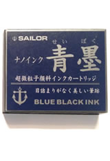 Sailor Pigmented Ink Cartridge(12pk)  in Blue Black