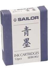 Sailor Pigmented Ink Cartridge(12pk)  in Seiboku Blue