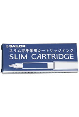 Sailor Chalana Ink Cartridge(5pk)  in Blue Black