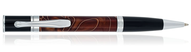 Monteverde Jewelria Ballpoint Pens in Brown