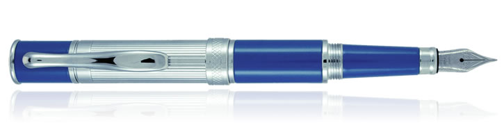 Monteverde Jewleria Mini Fountain Pens in Cobalt Blue Line Cut
