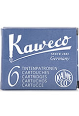 Kaweco Cartridges(6pk)  Empty Ink Bottles in Blue Black