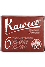 Kaweco Cartridges(6pk)  Rollerball Pen Refills in Red