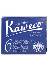 Kaweco Cartridges(6pk)  Empty Ink Bottles in Royal Blue