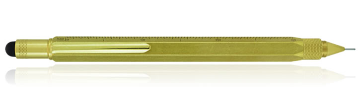 Monteverde One Touch Stylus Tool Mechanical Pencils in Brass
