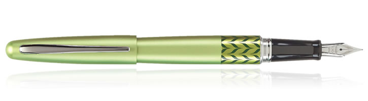 Pilot MR Metropolitan Fountain Pens in Retro Pop Apple Green Marble