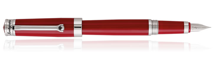 Montegrappa Parola Fountain Pens in Amarone Red