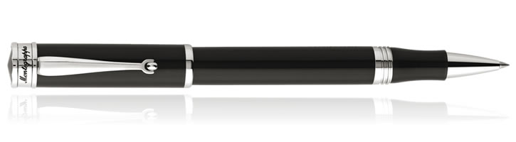 Montegrappa Ducale Rollerball Pens in Palladium / Black