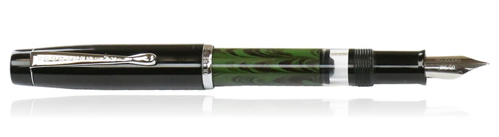 Noodlers Konrad Fountain Pens in Dixie 10 Jade Ebonite