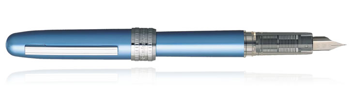 Platinum Plaisir Fountain Pens in Frosty Blue