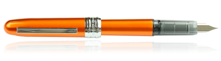 Platinum Plaisir Fountain Pens in Nova Orange