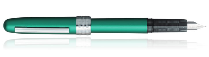 Teal Green Platinum Plaisir Fountain Pens