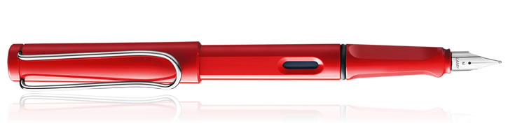 Lamy Safari Fountain Pens in Red