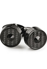 Montegrappa Classic Filigree Cufflinks in IP Black Carbon Fiber