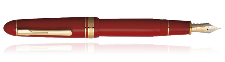 Platinum President Fountain Pens in Burgundy