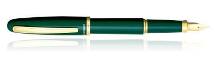 Platinum Balance Fountain Pens in Green