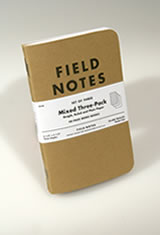 Field Notes Original Kraft 3-Pack Memo & Notebooks in Mixed Paper