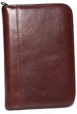 Aston Leather Collector's 10 Pen Carrying Cases in Brown