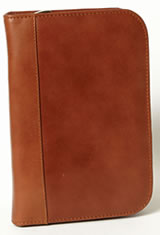 Cognac Aston Leather Collector's 10 Pen Carrying Cases