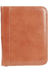 Cognac Aston Leather Collector's 20 Pen Carrying Cases