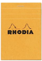 3-3/8 X 4-3/4 Orange/Graph Rhodia Top Staplebound Memo & Notebooks