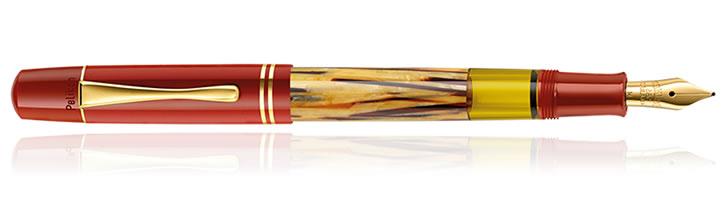 New Pelikan Tortoise Shell Red Fountain Pen
