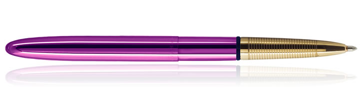 Fisher Space Pen Bullet Ballpoint Pens in Fuschia w/ Gold Grip