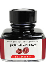 J Herbin Bottled Ink(30ml)  in Rouge Grenat