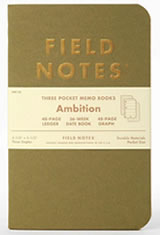 Field Notes Ambition Memo & Notebooks