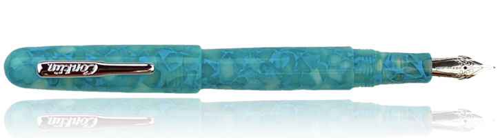Conklin All American Fountain Pens in Turquoise Serenity