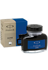 Parker Quink Bottled Ink(2oz) Fountain Pen Ink in Blue Black