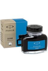 Parker Quink Bottled Ink(2oz) Fountain Pen Ink in Washable Blue